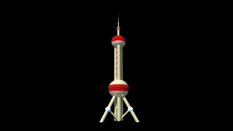 China - Shanghai - Oriental Pearl TV Tower stock footage
