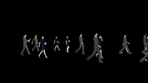 People Walking - Business stock footage