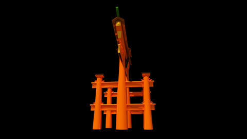 Japan - Miyajima - Itsukushima Shrine Torii stock footage