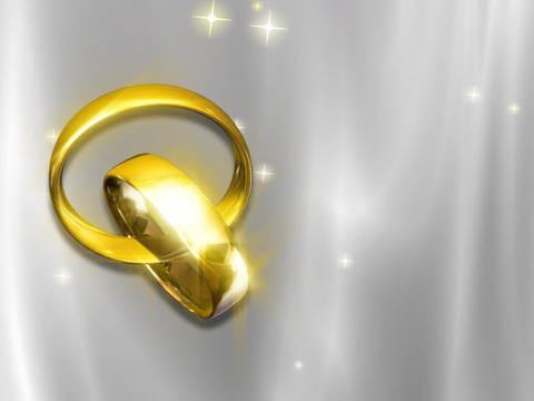 Wedding Rings Looping Background Animation