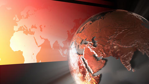 Red Globe stock footage