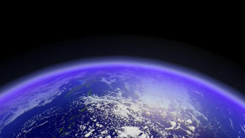 Fast Earth Orbiting Horizon. Loop stock footage