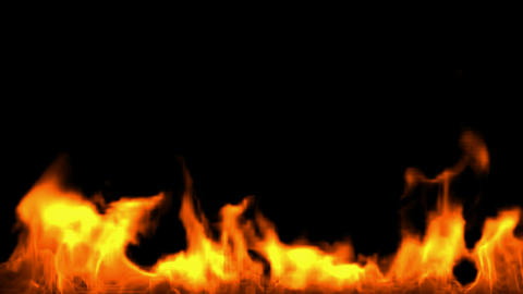 Fire Burning Bottom stock footage