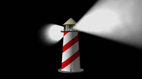 Lighthouse (Loop) + Alpha Channel stock footage