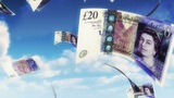 Money From Heaven - GBP (Loop) stock footage
