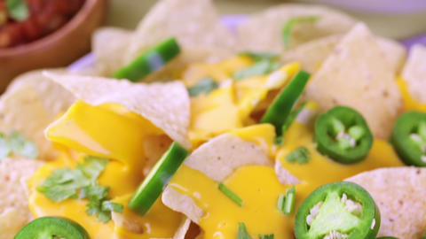 Nachos stock footage