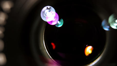 Lens Shutter.Camera Takes A Picture stock footage