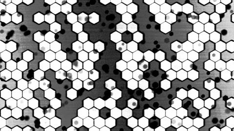 Scrolling Monochrome Hexagon Background Animation - Loop stock footage