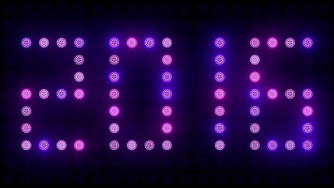 2016 New Year Text Led Lights Animation