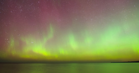 Time lapse pan of Aurora Borealis (Northern Lights) Footage