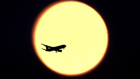 Sun and Airplane Footage