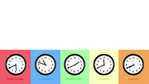 Clock And Time Concept Background stock footage