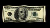 FLOATING DOLLARS stock footage