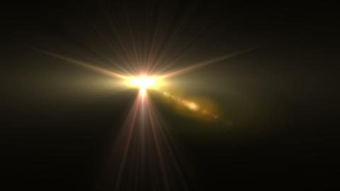 Wings Lens Flare 137 stock footage
