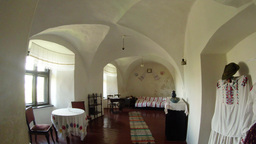 Museum Room In A Medieval Castle In Central Europe, Fortress In Western Ukraine  stock footage
