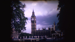 Vintage 8mm footage of Big Ben Footage