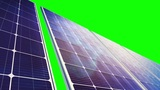 Solar Panels Panorama (Loop on Green Screen) CG動画素材