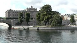 Stockholm Downtown 19 Swedish Parliament Footage