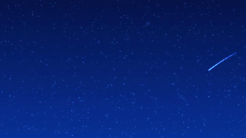 Shooting Star 001 Blue stock footage