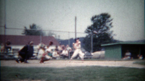 1960: Little League Baseball Team Takes To The Professional Field For The Big Ga stock footage