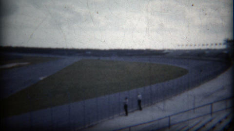 1960: Professional Big Race Track For High Speed Racecars stock footage