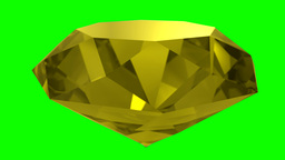 Yellow Sapphire Gemstone Gem Stone Spinning Wedding Background Loop 4K stock footage