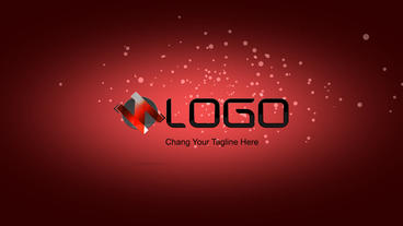 Simple Flat Logo Reveal 05 stock footage