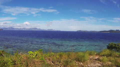 Landscape Of The Sea And Islands stock footage