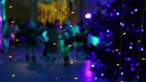 New year disco near the Christmas tree Footage