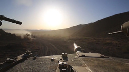 1st Tank Bn. blasts through Exercise Desert Scimitar 2014 Footage