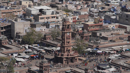 Clock Tower As Seen From Above,Jodhpur,India stock footage