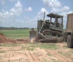 Bulldozer Crawler Tracked Tractor stock footage
