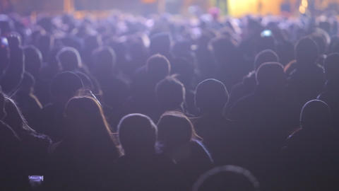 Crowd Partying At A Rock Concert stock footage
