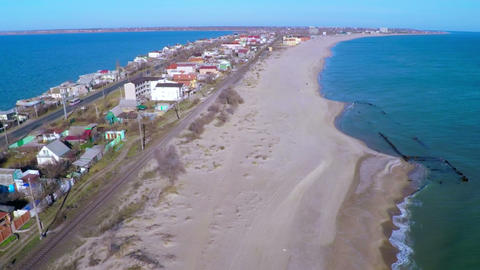 Strip Of Coast Between The Sea And The River stock footage