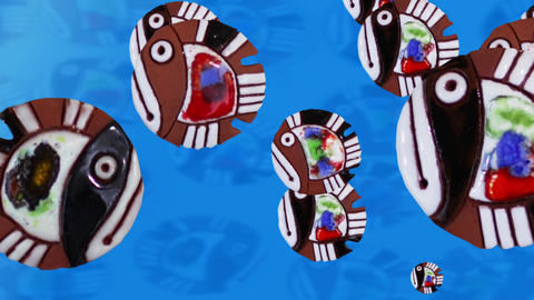 Cartoon Colorful Fish stock footage