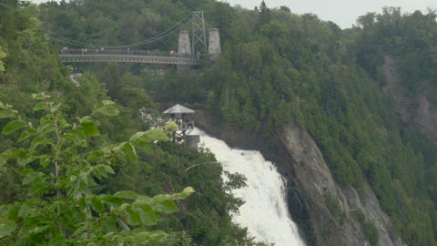 Waterfall of Quebec from tourist point of view Footage