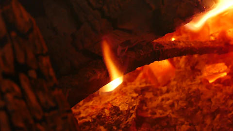 Bonfire Flame Close-Up - 09 stock footage
