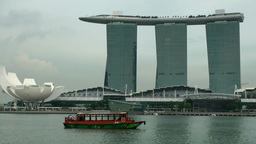 Singapore 059 Marina Bay Sands Hotel And ArtScience Museum stock footage