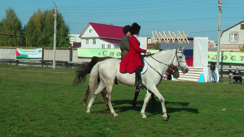 Show of Cossacks on horses. Tyumen. Russia Footage