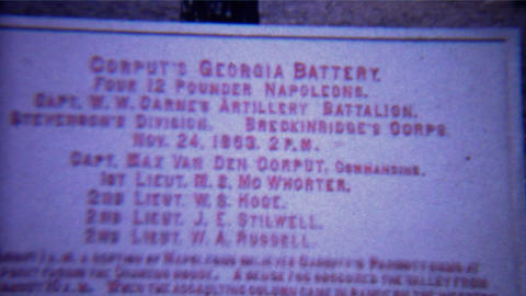 1966: Civil war history canon battery signs atop Lookout Mountain Footage