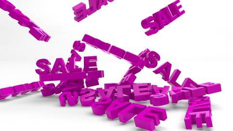 Falling Words SALE stock footage