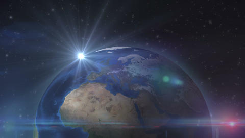Sunshine On The Earth From The Outer Space stock footage