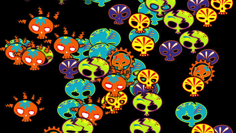 Sugar Skull 03 Vj Loop Animation