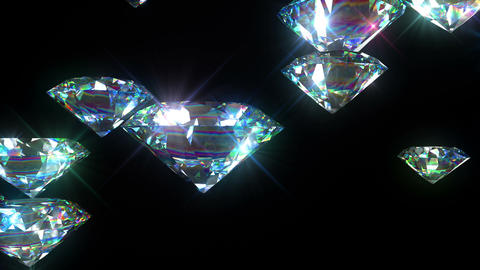 Bright Diamonds Looped animation. Luxury Background. HD 1080 Animation
