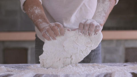The Dough Man Hands stock footage