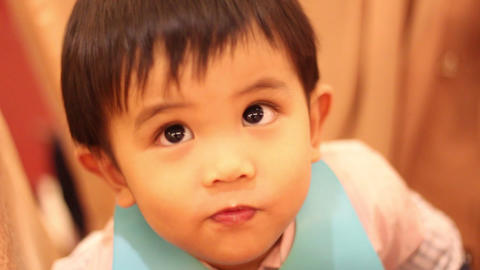 Cute Child stock footage
