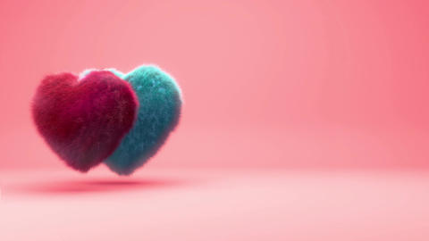 Hairy Hearts Background Animation For Valentines Day And Wedding stock footage
