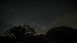 4K Timelapse Of Milky Way And Moon Rise stock footage