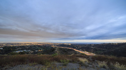 4K Timelapse Of Los Angeles Downtown And Getty Museum stock footage