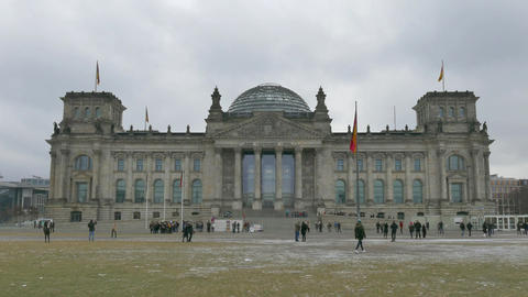 10 Berlin German City Germany Bundestag Reichstag Parliament People Monument Footage